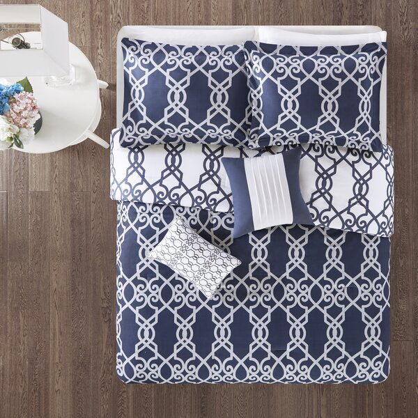 Kyle 5 Piece Reversible Print Comforter Set by Charlton Home