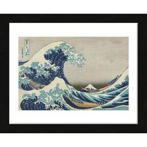 'The Great Wave at Kanagawa' by Katsushika Hokusai Framed Painting Print by McGaw Graphics