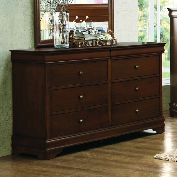 Alivia 6 Drawer Double Dresser By Alcott Hill by Alcott Hill Discount