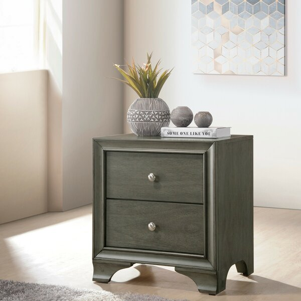 Hebb Wooden 2 Drawer Nightstand by Red Barrel Studio