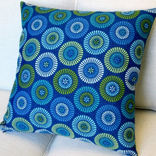 Geometric Circles Indoor/Outdoor Pillow Cover (Set of 2) by Artisan Pillows
