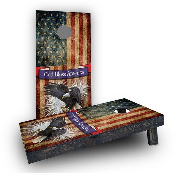 Bald Eagle - God Bless America Cornhole Boards (Set of 2) by Custom Cornhole Boards