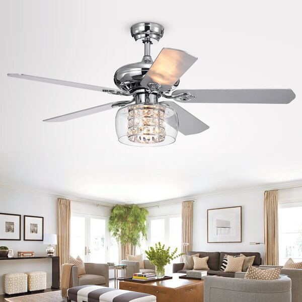 52 Gaines 5 Blade Ceiling Fan with Remote by House of Hampton
