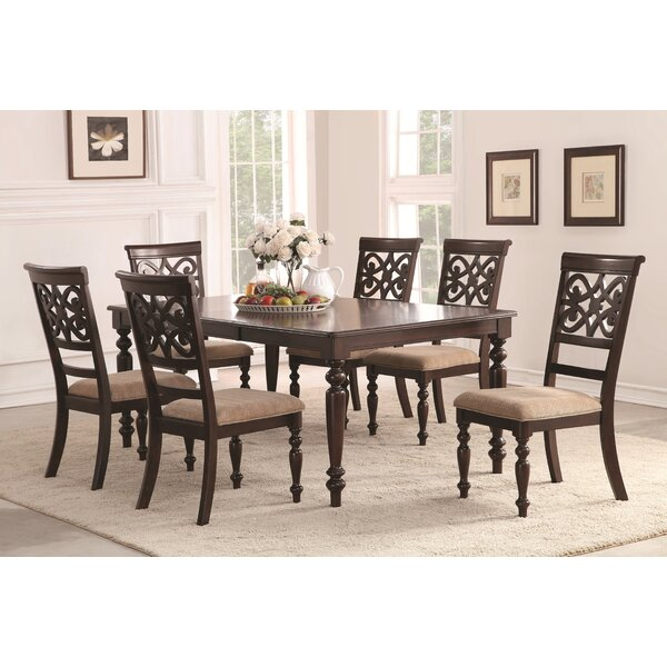 Laconia 7 Pieces Solid Wood Dining Set (Set of 7) by Darby Home Co