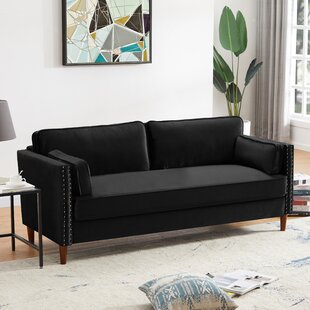 2P+3P Living Room Black Sofa by House of Hampton®
