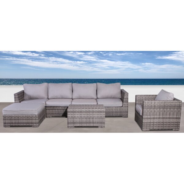 Letona 4 Piece Sectional Seating Group with Cushions by Sol 72 Outdoor