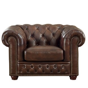 Worcester Leather Chesterfield Chair By Trent Austin Design