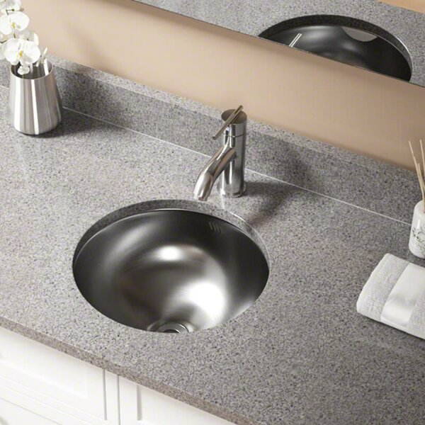 Stainless Steel Circular Undermount Bathroom Sink
