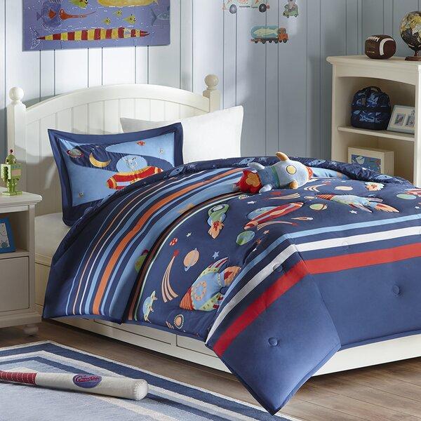 Kolton Space Cadet Comforter Set by Zoomie Kids