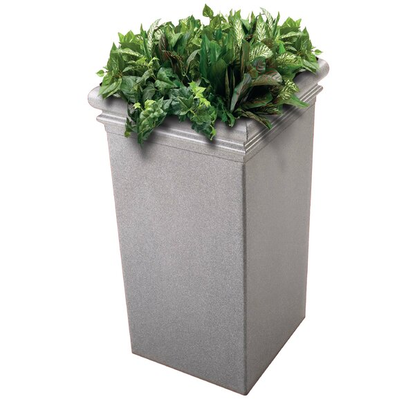 StoneTec® Polymer Concrete Pot Planter by Commercial Zone