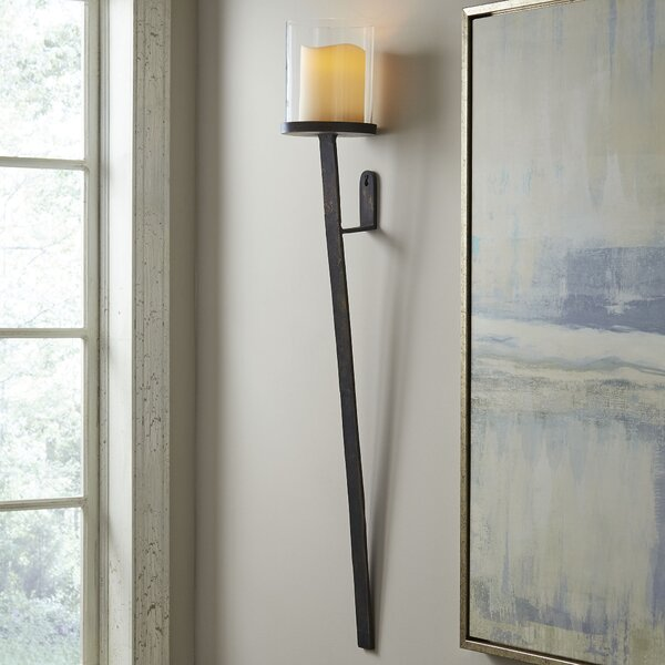 Sonoma Glass/Metal Hurricane Sconce by Birch Lane™