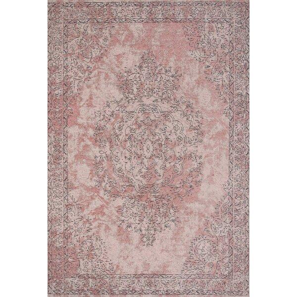 Talreja Oriental Cotton Pink Area Rug