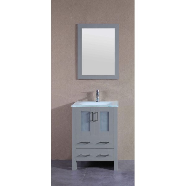 Acclaim 24 Single Bathroom Vanity Set with Mirror by BosconiAcclaim 24 Single Bathroom Vanity Set with Mirror by Bosconi