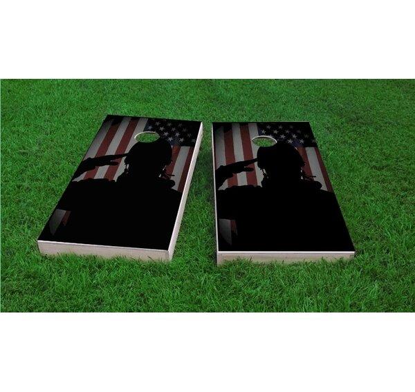 Veterans Salute Cornhole Game Set by Custom Cornhole Boards