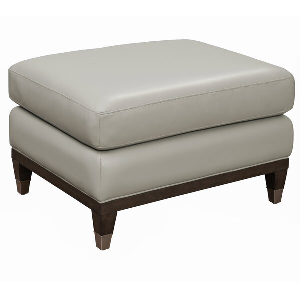 Dorlean Accent Leather Ottoman by Brayden Studio Brayden Studio