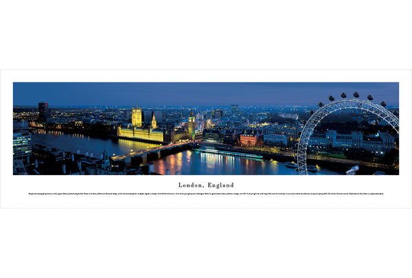 London, England (Ferris Wheel) by James Blakeway Photographic Print by Blakeway Worldwide Panoramas, Inc