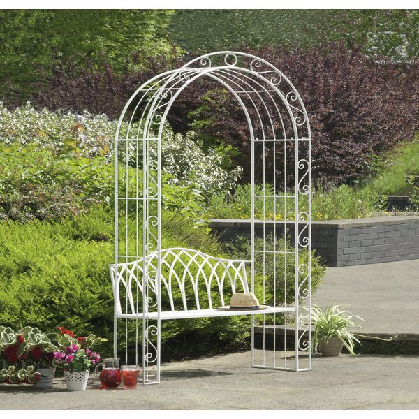Abbas Cast Iron Arch Garden Bench by Ophelia & Co.