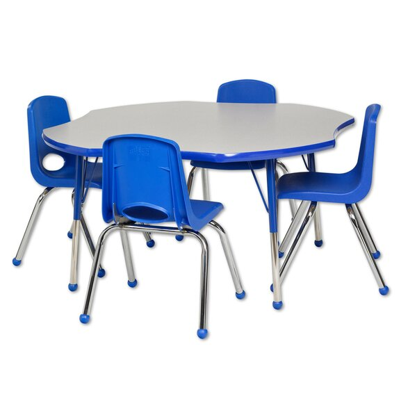 5 Piece Novelty Activity Table & 12 Chair Set by ECR4kids