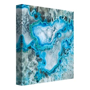 'Ice Crystal Geode' Painting Print on Wrapped Canvas by Latitude Run