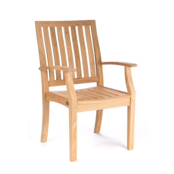 Boyle Teak Patio Dining Chair by Rosecliff Heights