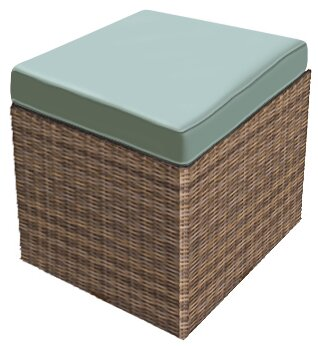 Demetra Ottoman with Cushion by Highland Dunes