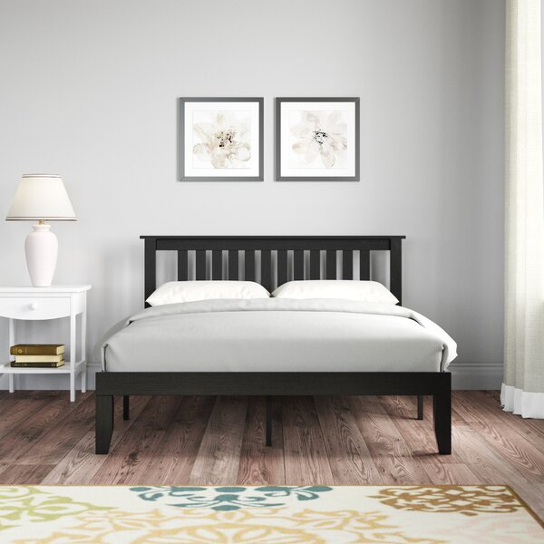 Acacia Wood Bed Wayfair