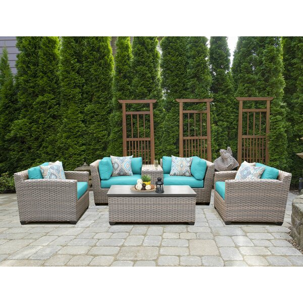 Romford 6 Piece Rattan Sofa Seating Group With Cushions By Sol 72 Outdoor by Sol 72 Outdoor Fresh