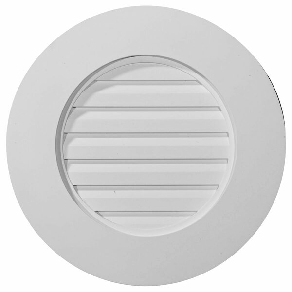 20H x 20W Round Gable Vent Louver by Ekena Millwork