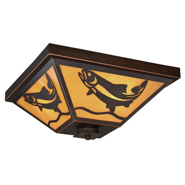 Guion 3-Light Outdoor Flush Mount by Loon Peak