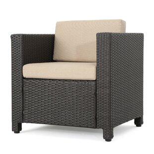 Look for Bonnette Outdoor Wicker Armchair by Wrought Studio