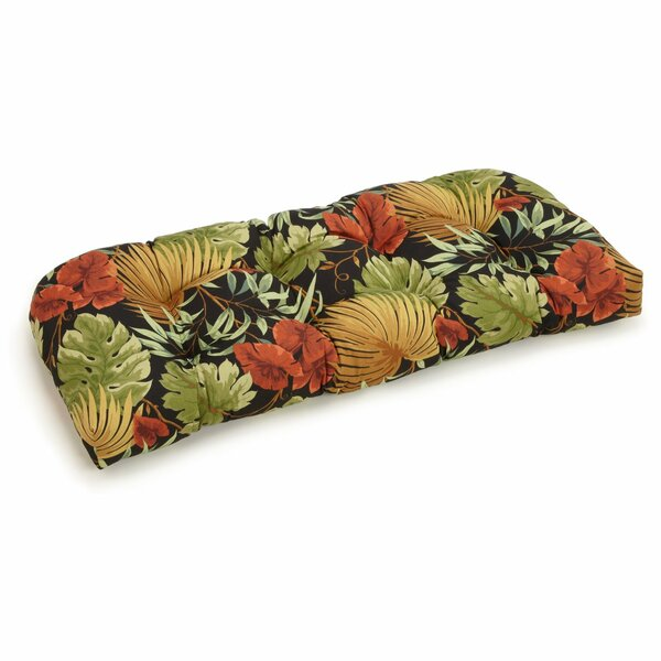 Floral Indoor/Outdoor Bench Cushion by Bay Isle Home
