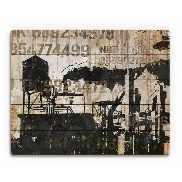 Industrial Park Codes Graphic Art on Plaque by Click Wall Art