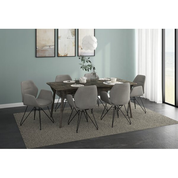Corsair 7 Piece Solid Wood Dining Set by Brayden Studio