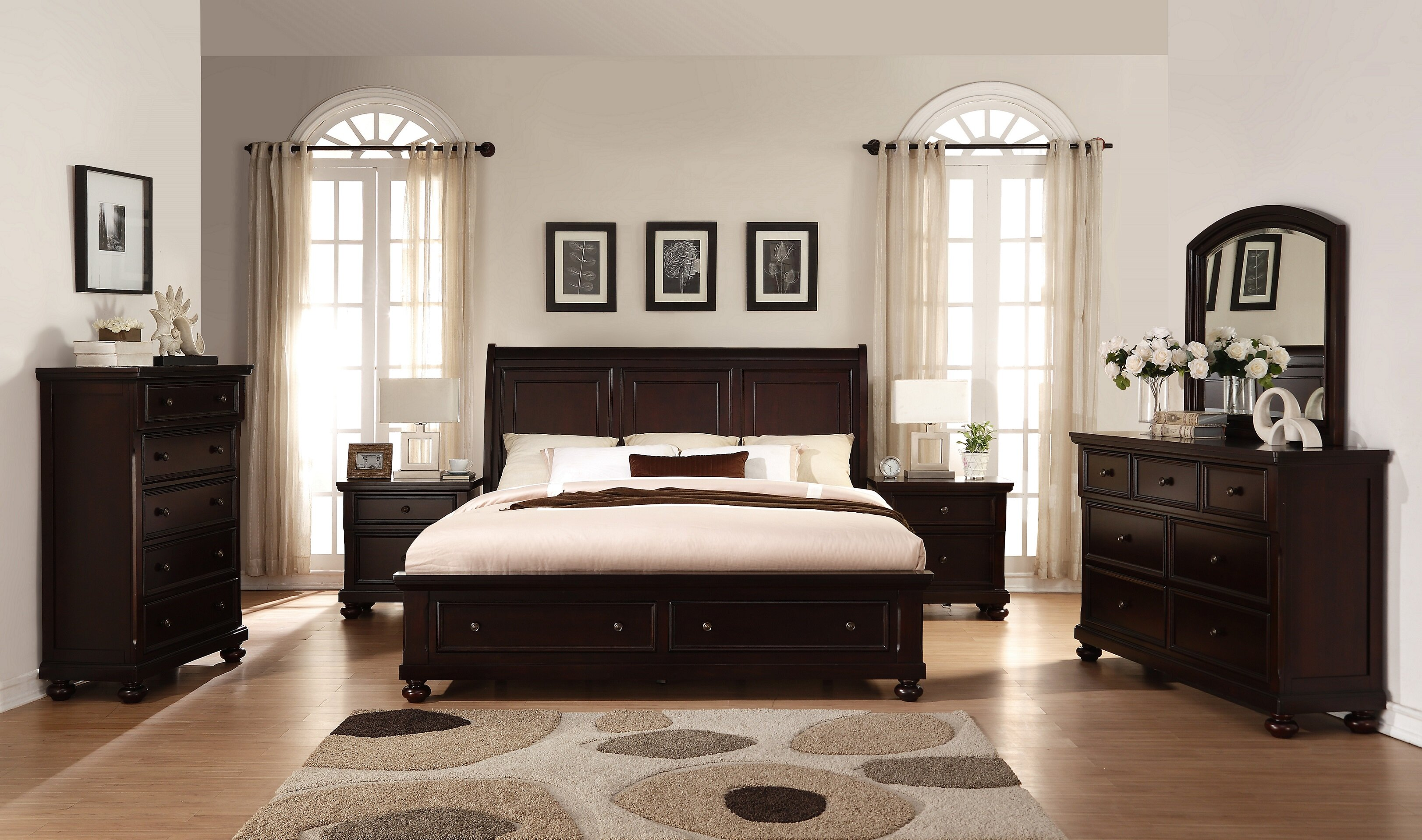 Breakwater Bay Jaimes King Platform Solid Wood 6 Piece Bedroom Set