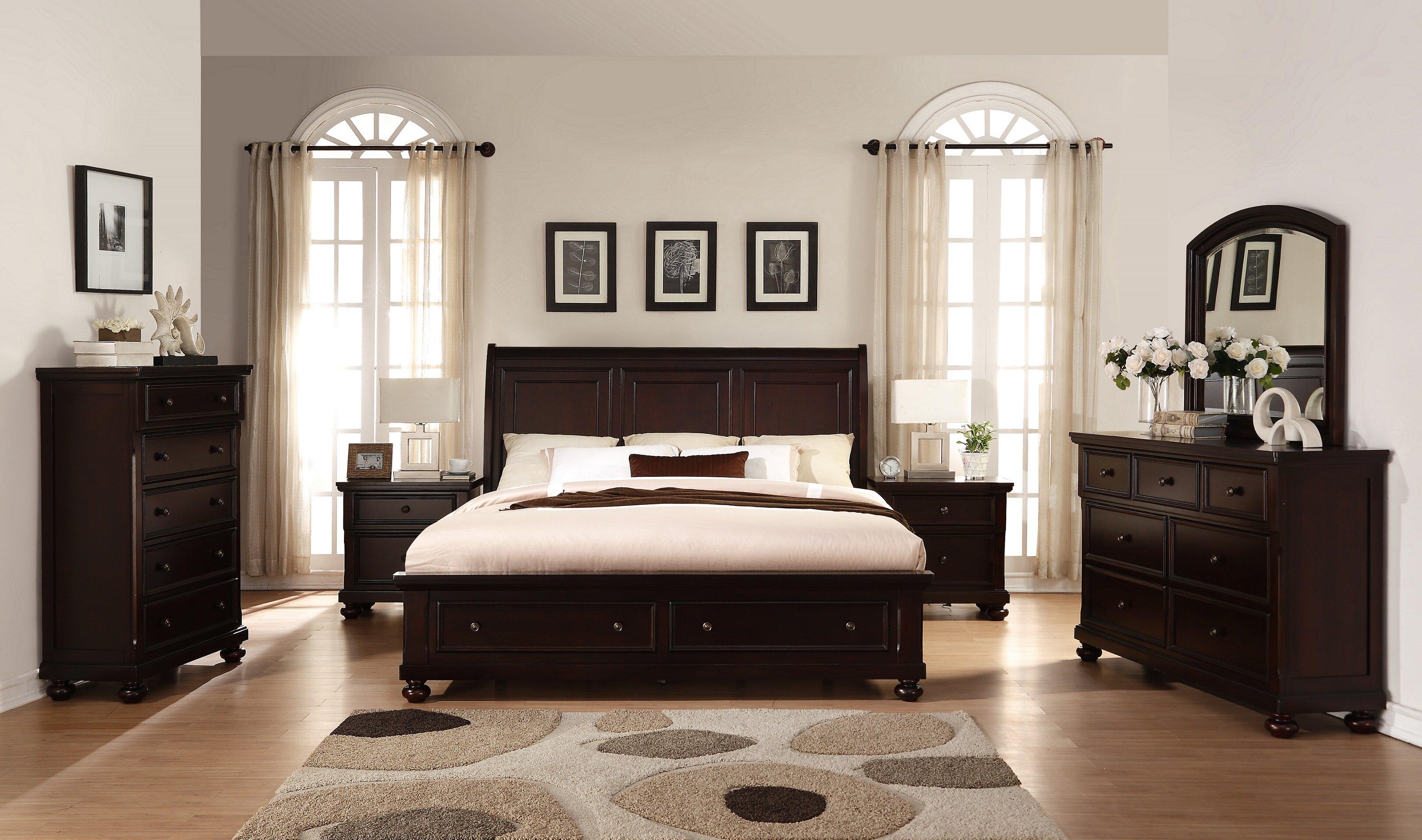 Breakwater Bay Jaimes King Platform Solid Wood 6 Piece Bedroom Set