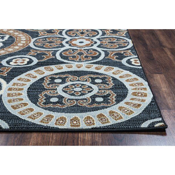 Anthony Black Area Rug by Bungalow Rose