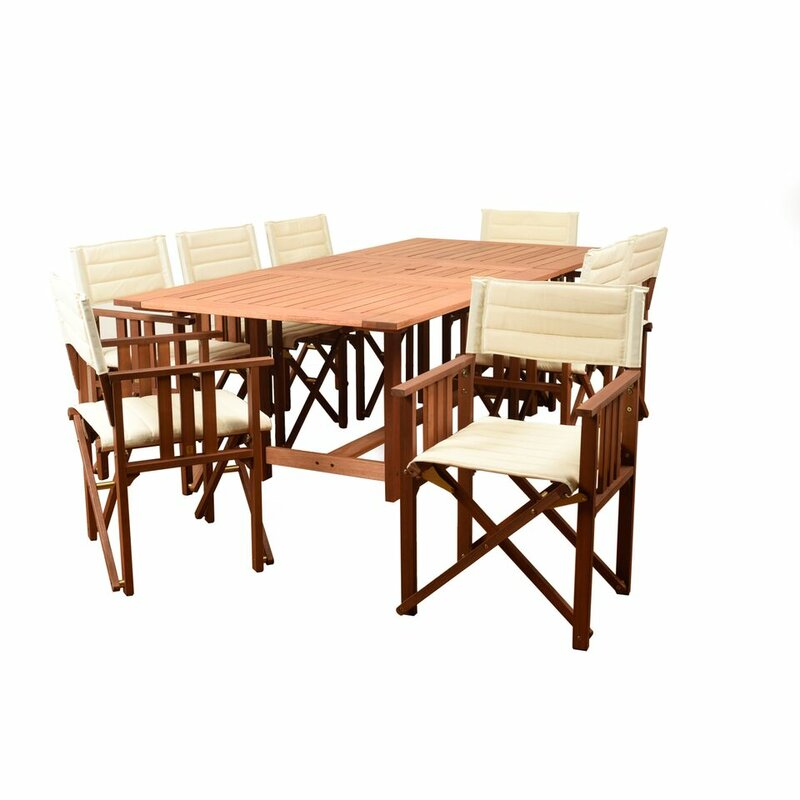 Brighton 9 Piece Dining Set With Cushion Reviews Allmodern