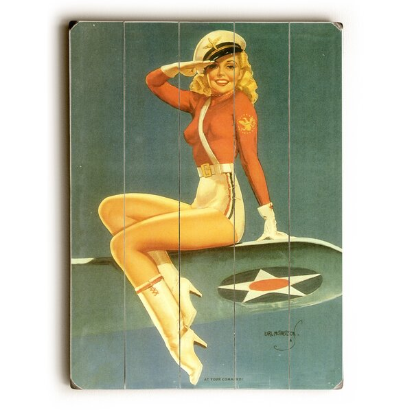 Army Air Force Pin Up Girl Poster Photographic Print by Artehouse LLC