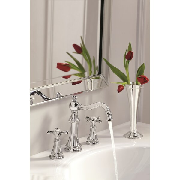 Weymouth Widespread Bathroom Faucet with Drain Assembly by Moen Moen