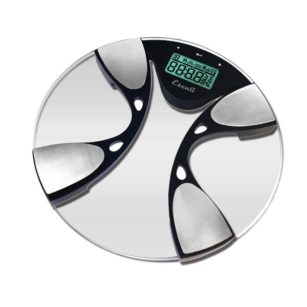 Glass Body Fat / Body Water Bathroom Scale by Escali