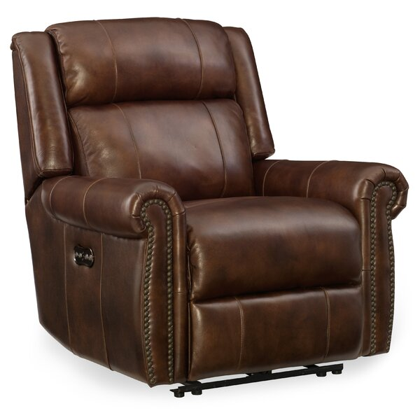 Esme Leather Power Recliner with Headrest by Hooker Furniture Hooker Furniture
