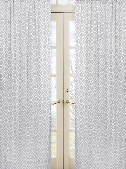 Diamond Geometric Semi-Sheer Rod Pocket Curtain Panels (Set of 2) by Sweet Jojo Designs