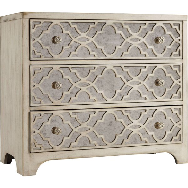 Sanctuary 3 Drawer Mirrored Accent Chest