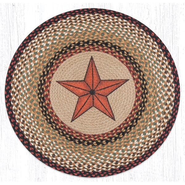 Barn Star Printed Area Rug by Earth Rugs
