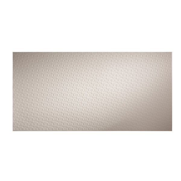 Connect 48 x 96 PVC Backsplash Panel in Almond by Fasade