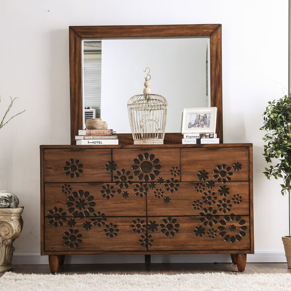 Alayah 7 Drawer Dresser with Mirror by Orren Ellis