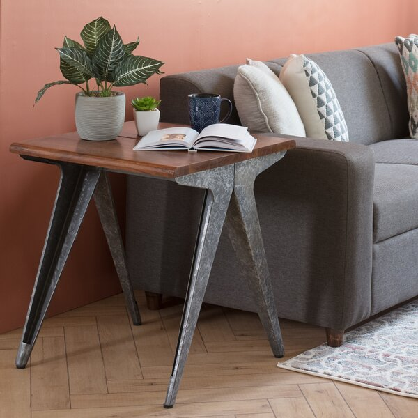 Wheeler End Table by Williston Forge