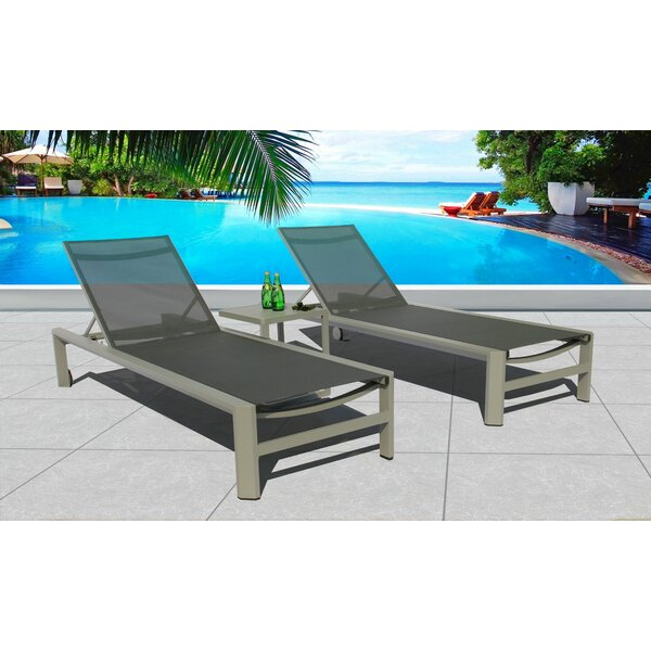 Montalto Sun Lounger Set with Table by Latitude Run