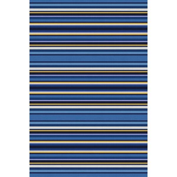 Cabana Power Loom Blue/Yellow Rug