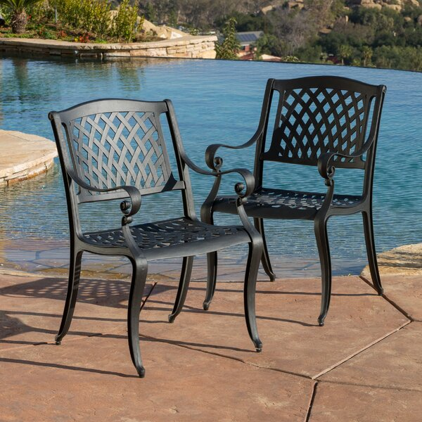 Grimm Patio Dining Chair (Set of 2) by Darby Home Co